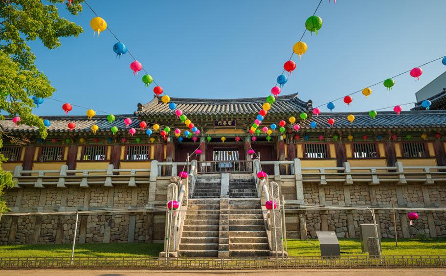 Bulguksa Tempel Südkorea Touristen Highlight