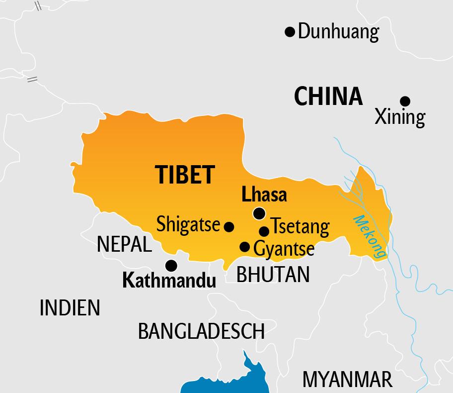 Tibet Karte, Landkarte von Tibet