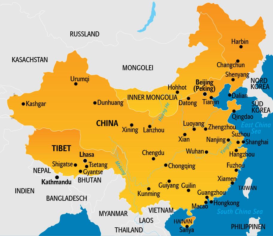 Karte China Hong Kong.China Reisetipps Länderinfos Und Reisevorbereitung