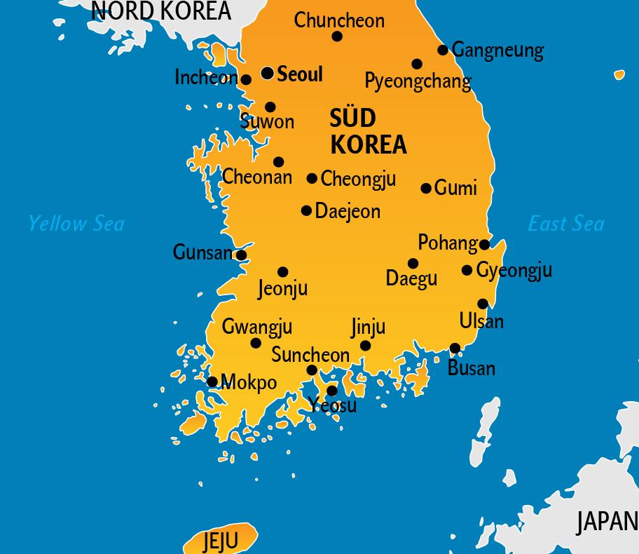 Südkorea Karte.Korea Reisetipps Länderinfos Für Süd Und Nordkorea